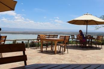Sunbird Lodge. Viewing the Lake Elementaita
