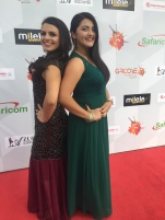 My sister and I on the carpet!